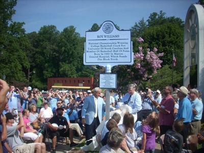 2011 Headliners, No. 5 -- Roy Williams dedicates marker