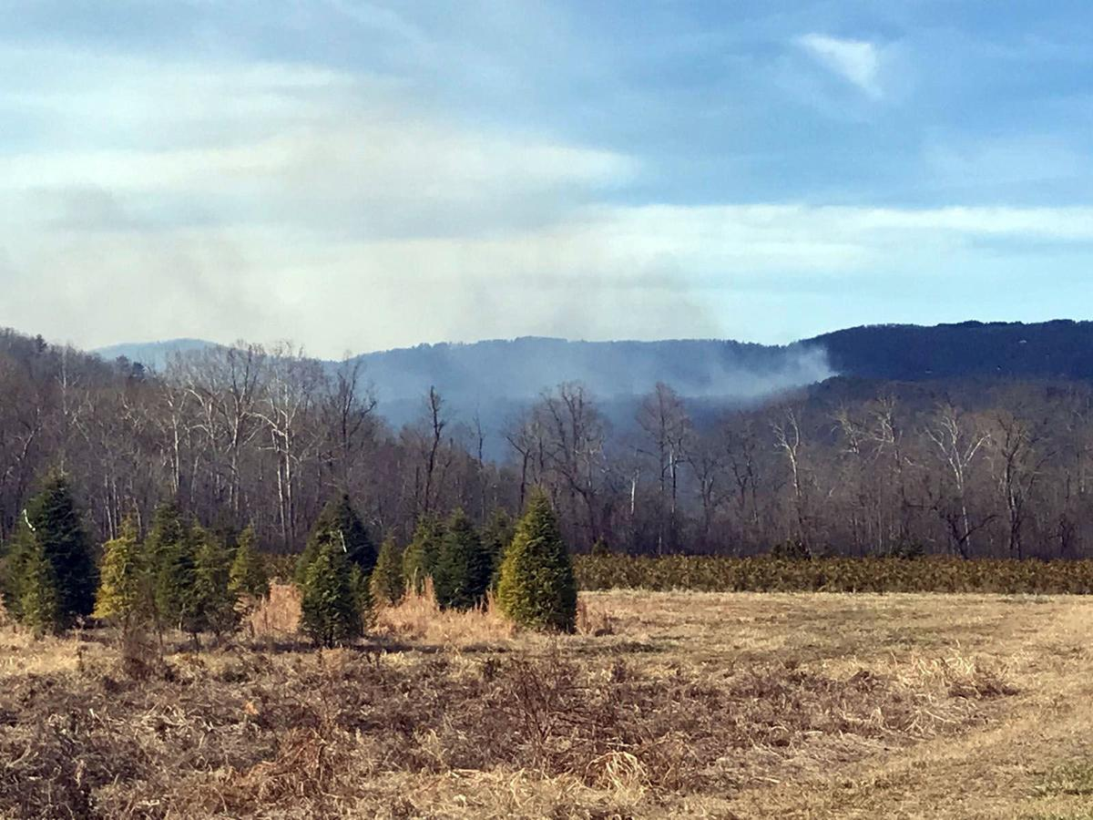 30-acre wildfire burning on N.C. 226A