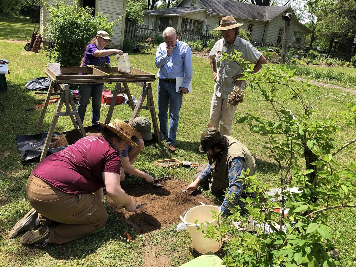 Archaeological dig taking place at Historic Carson House