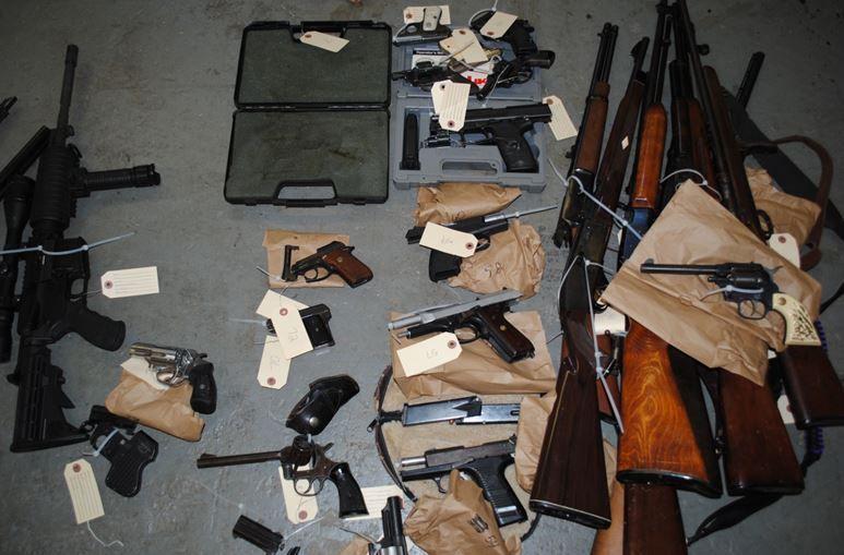 Davie County warrant seizure weapons