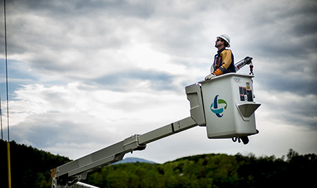 Marion lineworker featured in Duke Energy billboards, commercial