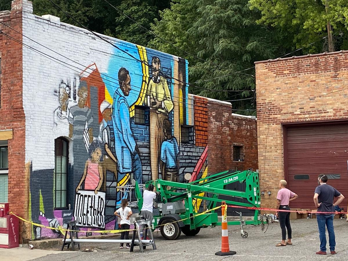 A lasting tribute: Old Fort celebrates civil-rights heroes with mural