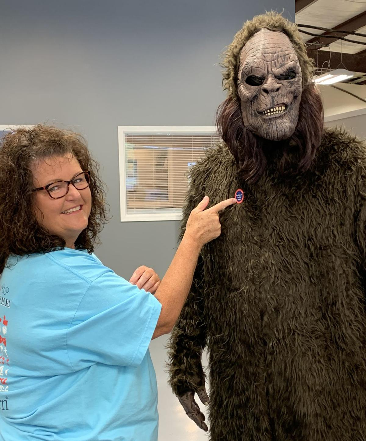 Citizen Bigfoot 'registers' to vote ahead of festival