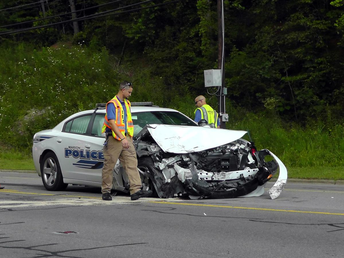 2 sent to hospital in officer-involved wreck