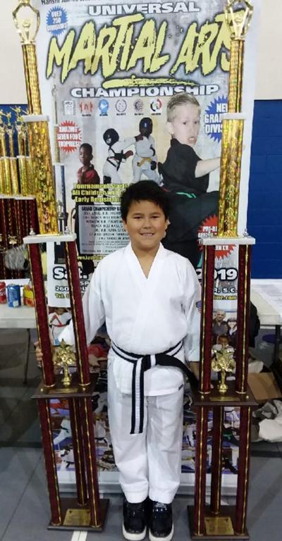 Wall sweeps division at martial arts tournament