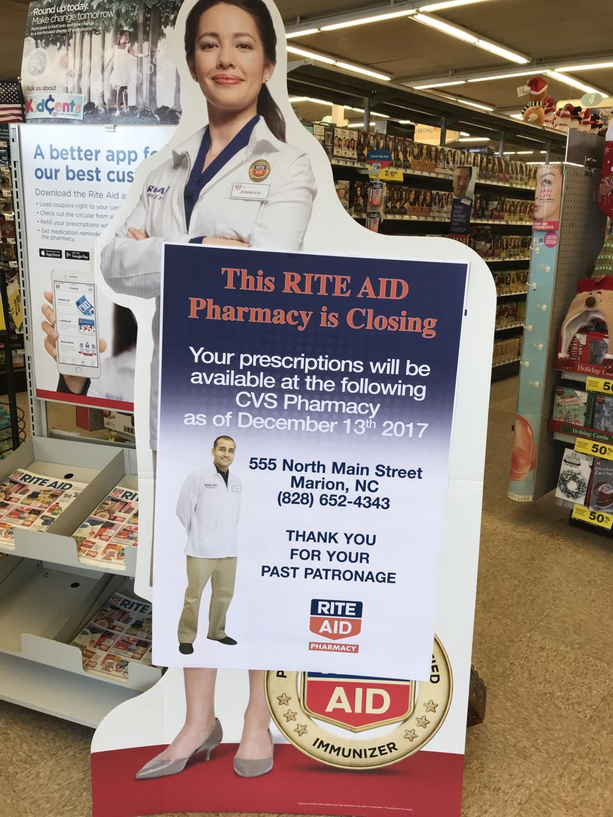 Rite Aid in Marion closing; customers must find new pharmacy | News ...