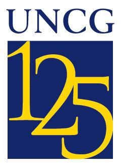 UNCG 125 logo - vertical