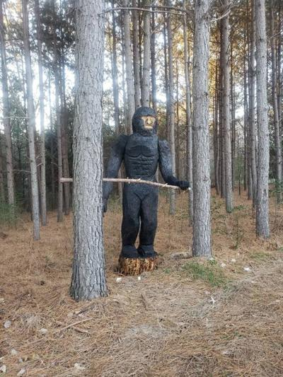 'Please be advised that the eyes appear to glow': Bigfoot-like sculpture alarms N.C. drivers