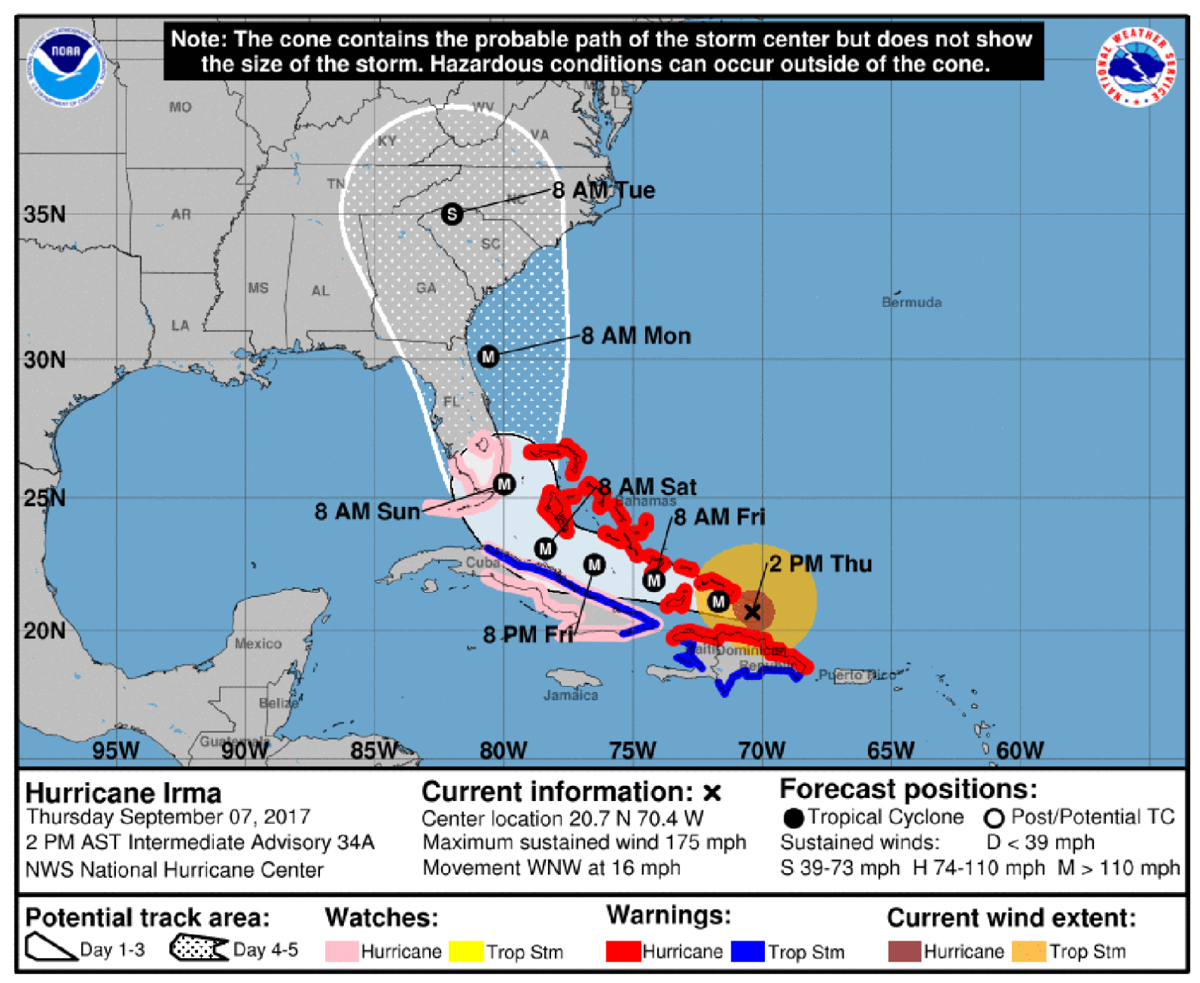 U.S. braces for Irma: Category 5 hurricane aims for Fla.; potential impact for N.C. unknown