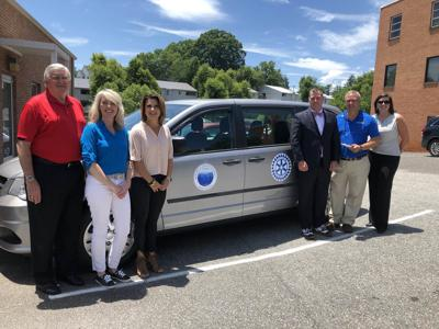 Rotary Club of Marion donates van to school system