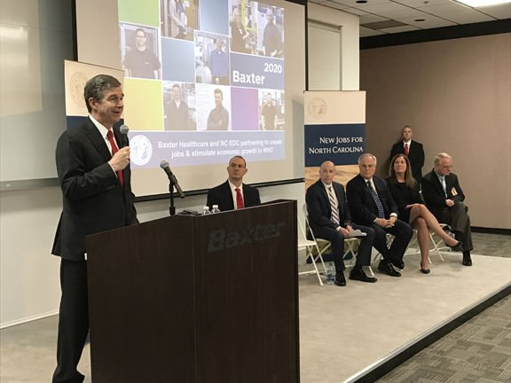 NC governor in McDowell: Baxter Healthcare to expand, add 90 jobs