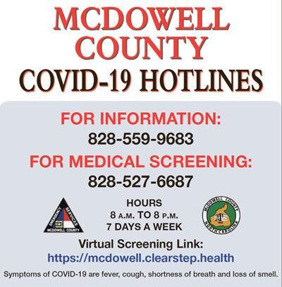 Update: One additional McDowell resident dies of COVID-19, five more test positive