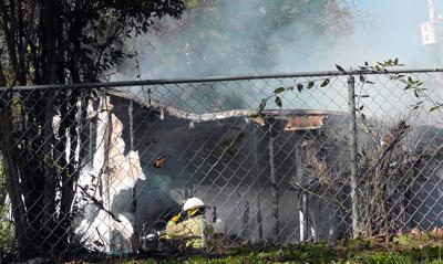 Mobile home damaged in afternoon fire