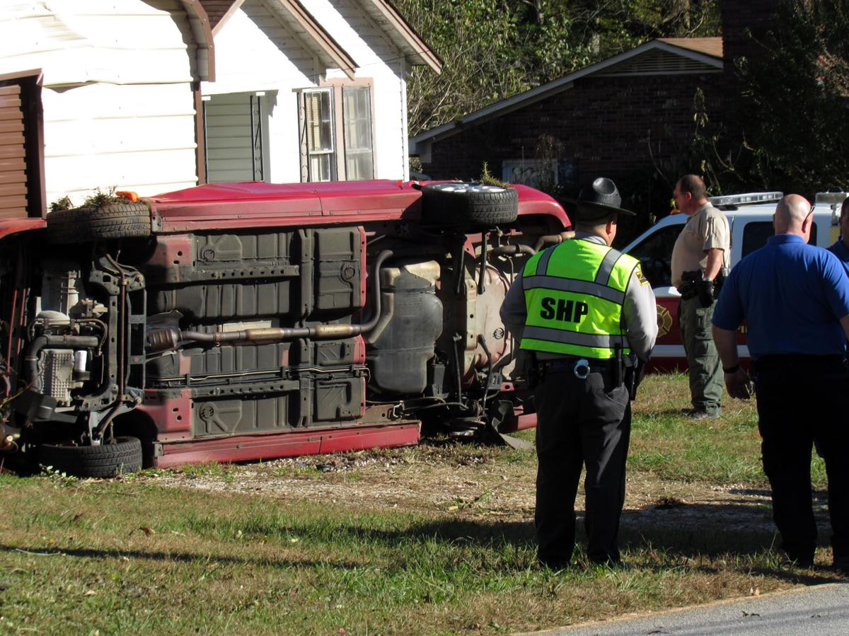 IMAGE: 1 flown to hospital after rollover accident in Marion