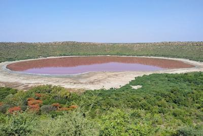 Pink India lake