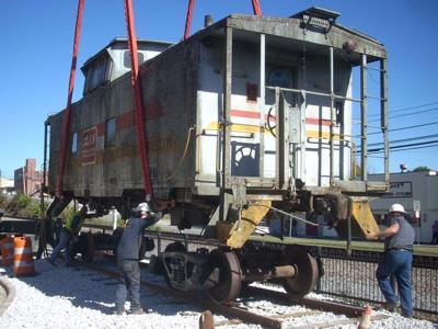 Old caboose gets new home in Marion   News   mcdowellnews com
