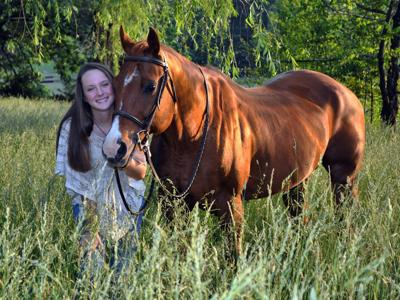 9th grader at MHS letters in equine