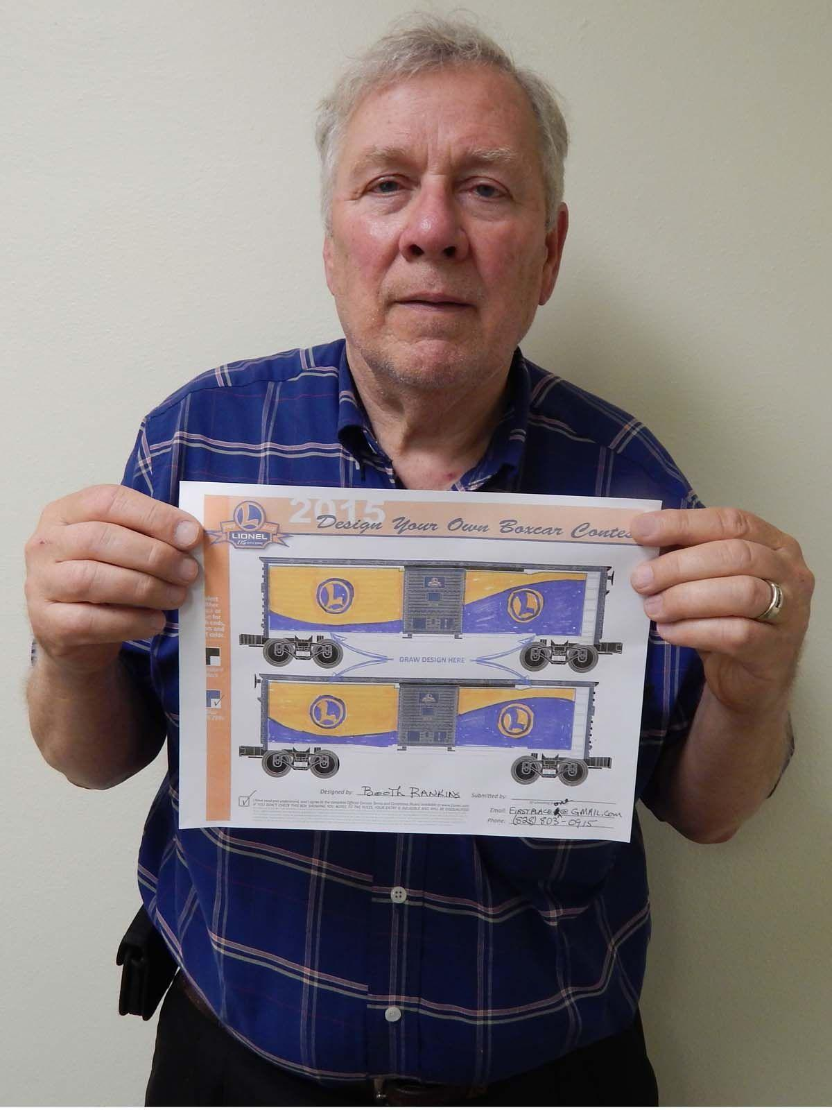 Voters pick Marion man's boxcar design