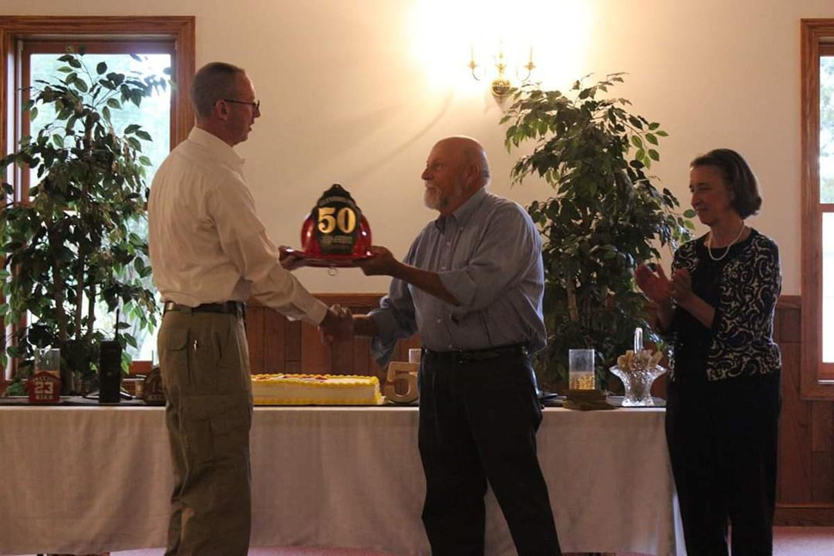 A family affair: Glenwood firefighter honored for 50 years of service