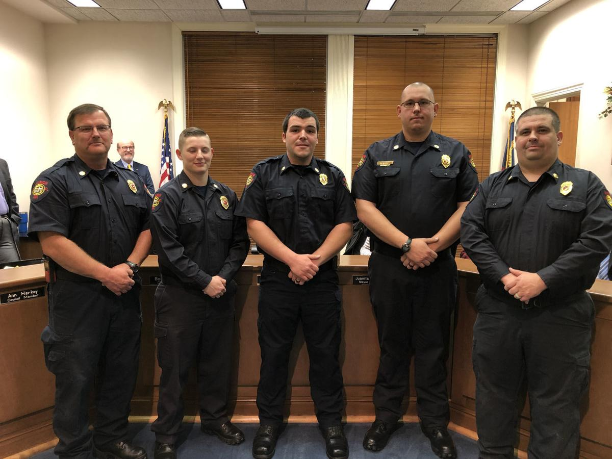 City Council recognizes firefighter, meets five new ones