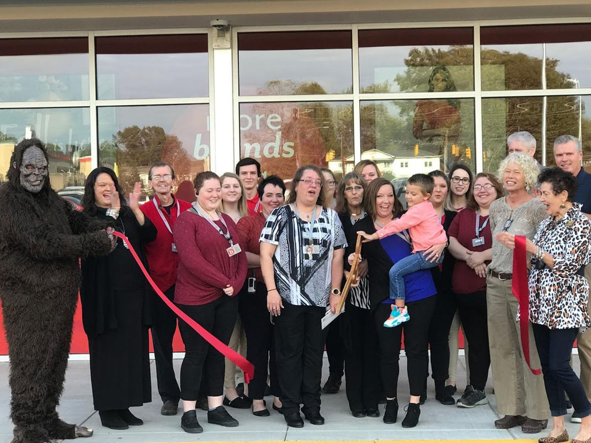 McDowell Chamber cuts ribbon for grand reopening of Burkes Outlet
