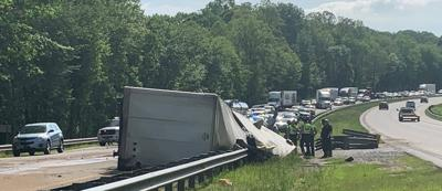 Tractor-trailer crash closes I-40 near Old Fort