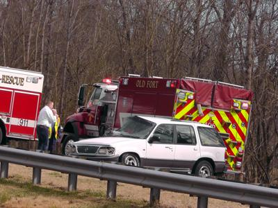 IMAGE: Wreck on I-40 delays, halts traffic for 1 hour
