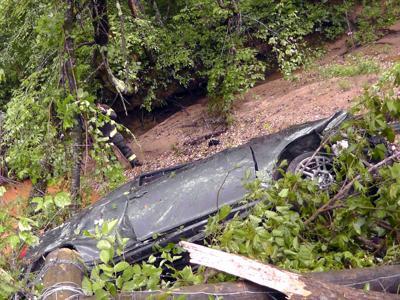 Car crashes guard rail, flies into tree on I-40 | Local News