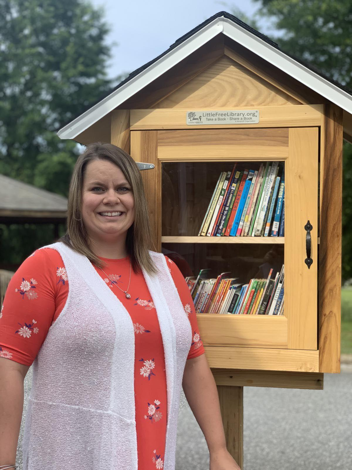 Little Free Library open for all  at West Marion Elementary