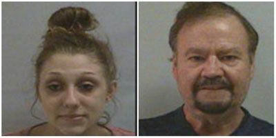 Pair found with meth while parked at school