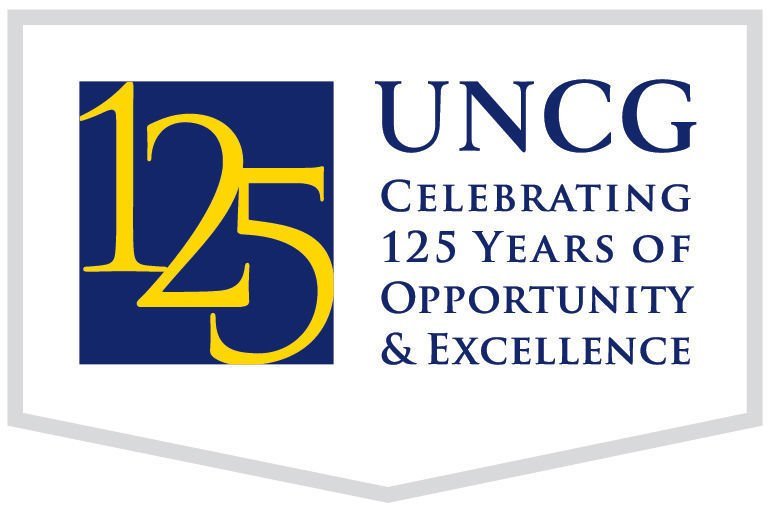 UNCG 125 logo - with border and tagline