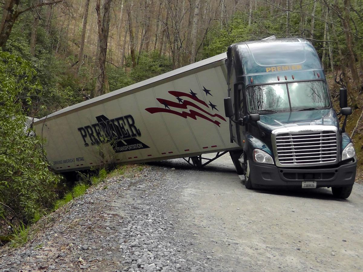 Truck accident closes road at McDowell/Buncombe line