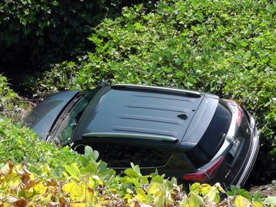 IMAGE: Car goes over embankment in Marion