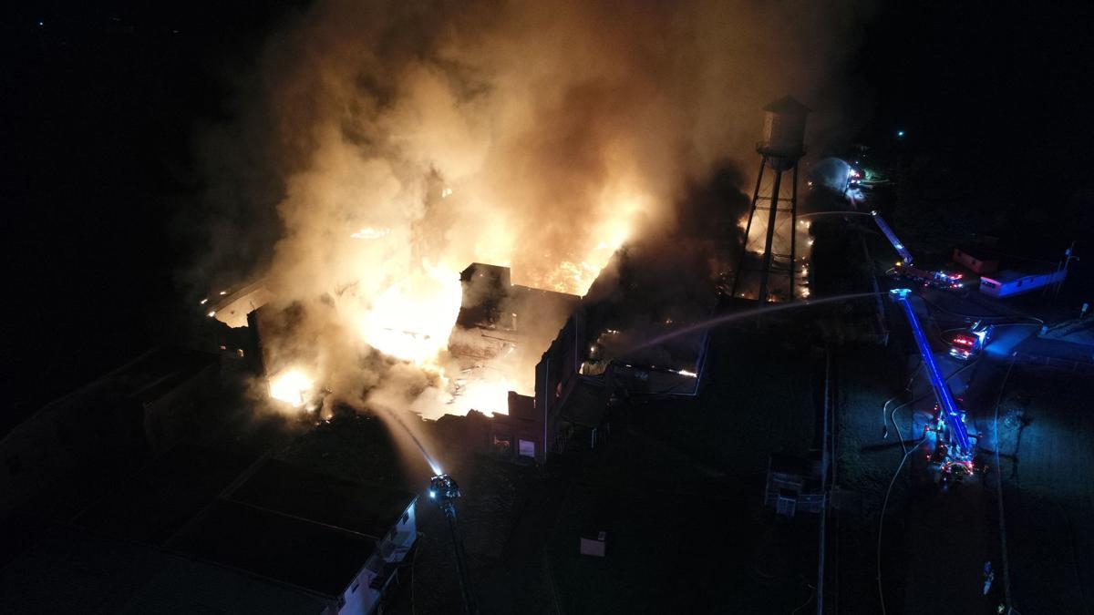 UPDATE: Warehouse in Marion burns overnight