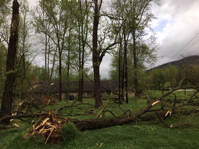UPDATE: National Weather Service says tornado hit northern McDowell Friday