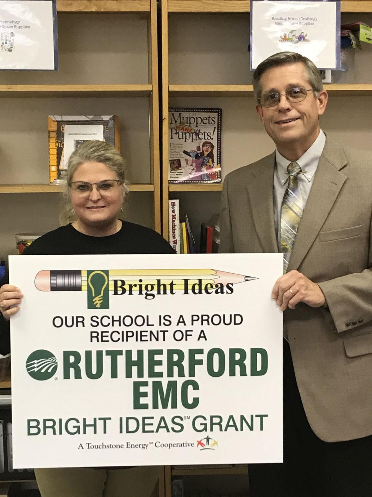 Old Fort Elementary receives $1,000 Bright Ideas grant from Rutherford Electric