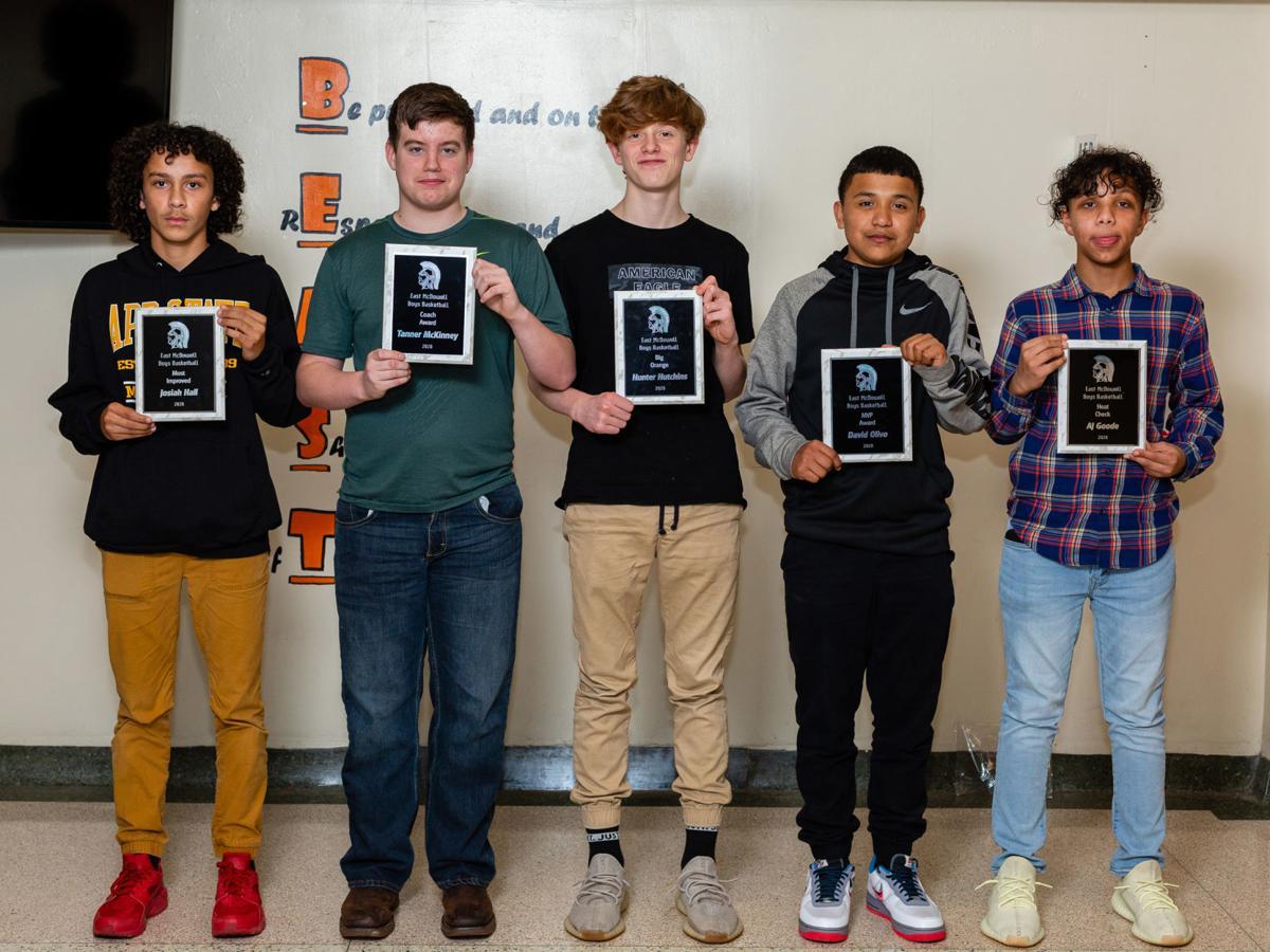East McDowell Middle School winter sports awards