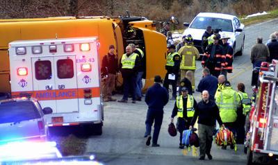School bus accident in Alexander County