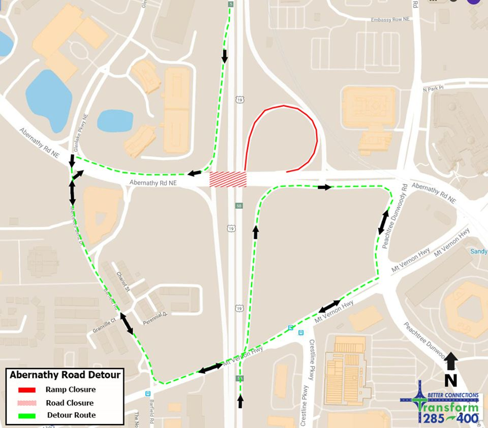Sandy Springs, GDOT announce weekend, permanent road/lane