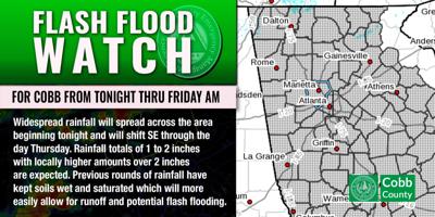Cobb flash flood warning 2/17/21