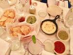 Queso, Guacamole, Salsa and tortilla chips