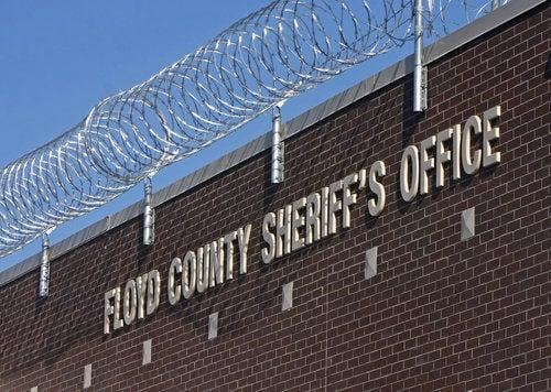 Floyd County Jail sign