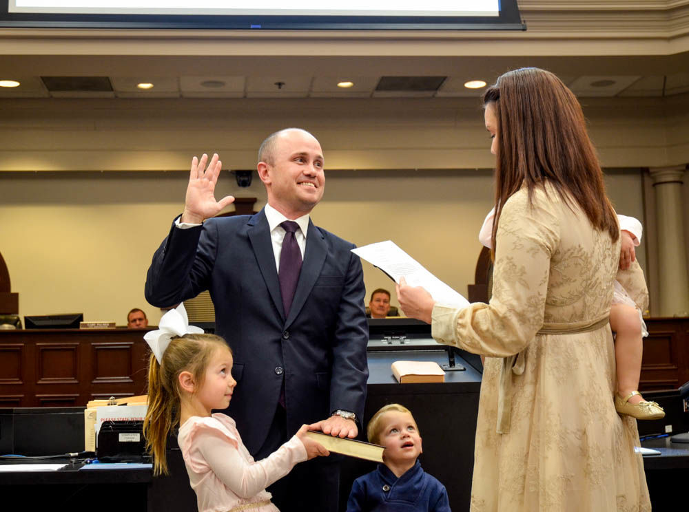 Mike Palermo swearing in