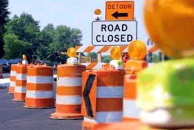 Road closure graphic