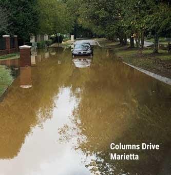 Cobb floods Oct. 11