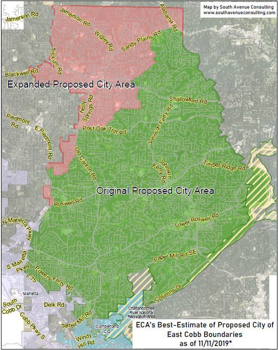 Estimated map of east Cobb