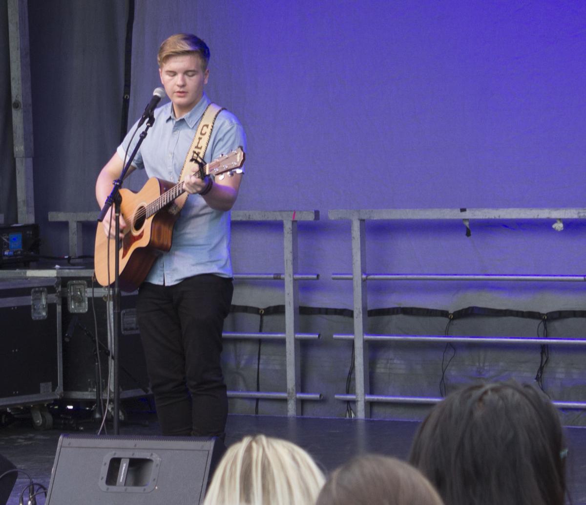 Caleb and guitar