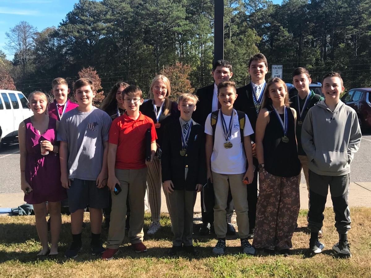 Calhoun Middle School debate team