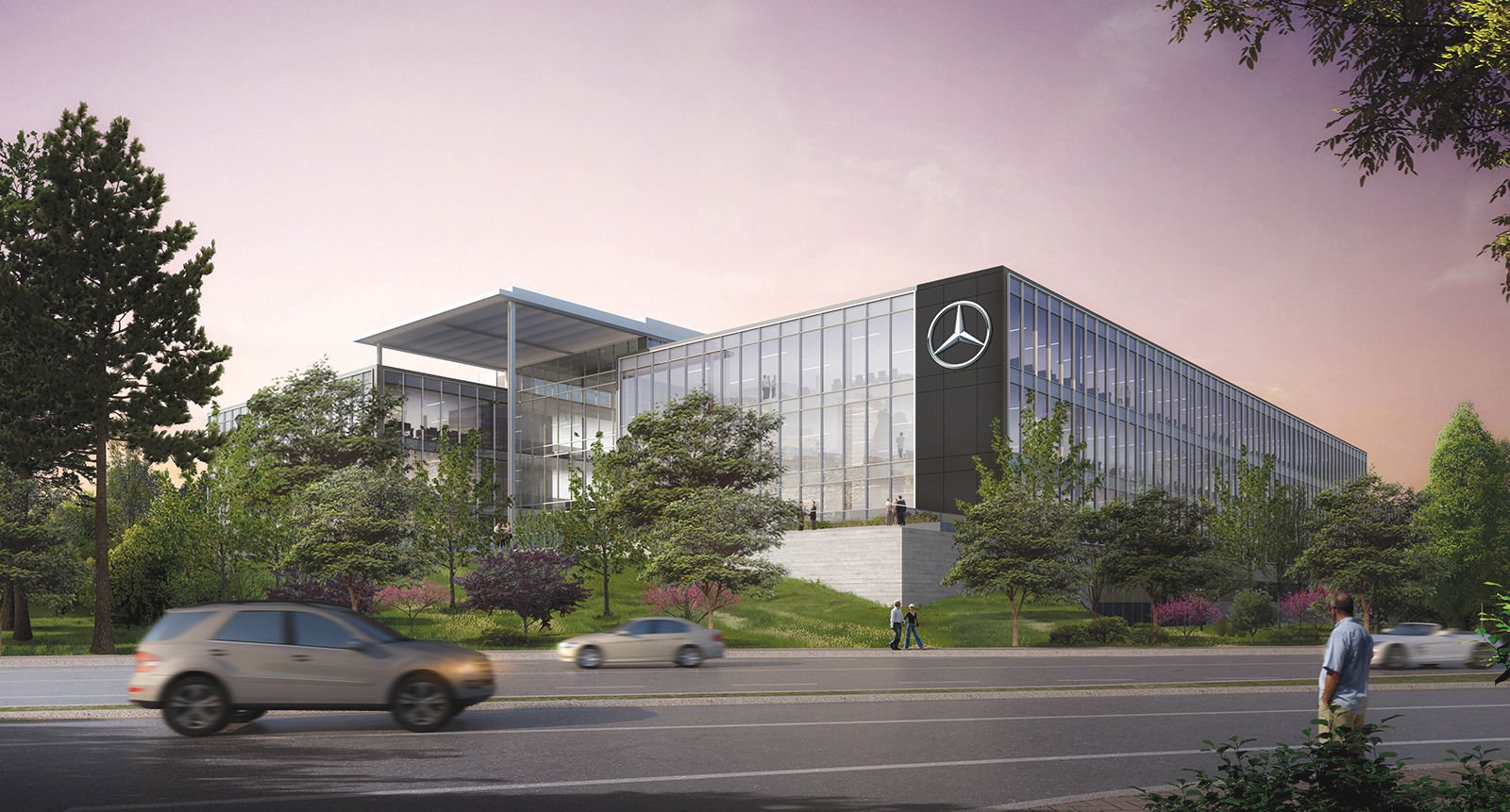 Mercedes Benz USA HQ To Be Bathed In Natural Light