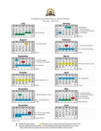 Paulding school calendars built from survey showing little desire